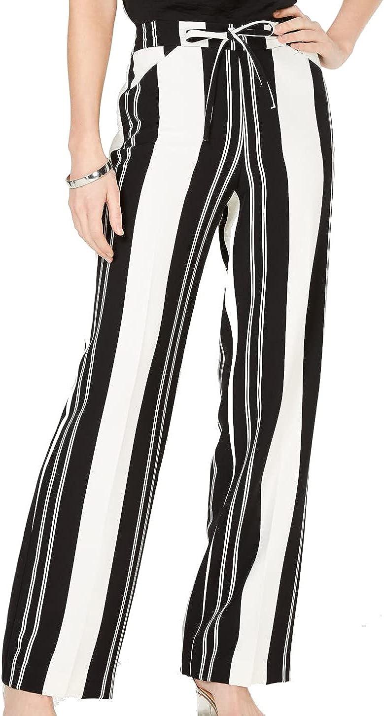 I.N.C. International Concepts INC Womens Black Striped Wear to Work Pants Size 2XL