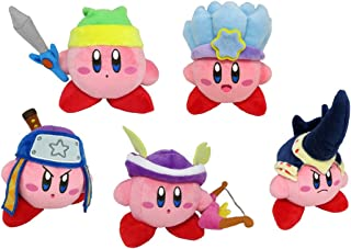 Little Buddy Set of 5 Kirby's Adventure All Star Kirby Stuffed Plushes - 1626 Sword / 1627 Ice / 1628 Ninja / 1629 Sniper / 1630 Beetle, 6