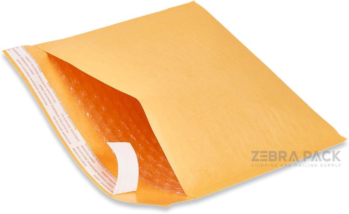ZebraPack #3 8.5X14.5 Kraft Bubble 2021 100 Classic Envelopes Mailers Padded