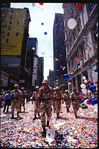 074041 Ticker Tape Parade For Soldiers A4 Photo Poster Print 10x8
