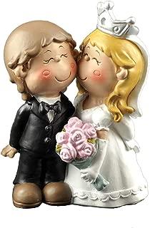 ENNAS Cute Bride and Groom Figurine Wedding Cake Topper