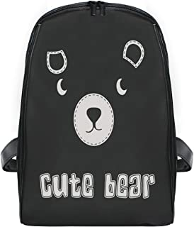 ZZXXB Cute Bear Backpack Kids Toddler Child Preschool Kindergarten Waterproof Book Bags Travel Daypack for Boys and Girls