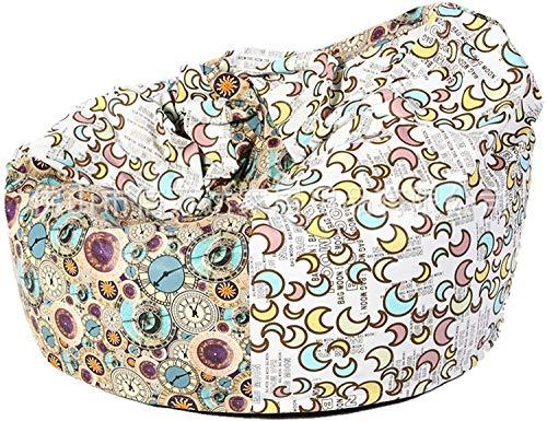 LIjiMY Beanbags Interior Al Aire Libre Resistente Al Agua Bolsas Beanbag Bazaar Panel CLÁSICO CLÁSICA Baja Silla DE Interior Interior (Color: Multi Color ED, Tamaño: Un Tamaño)