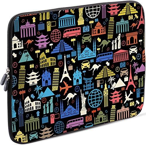 Sidorenko Laptop Tasche für 13 - 13.3 Zoll kompatibel für Macbook Pro / Macbook Air / Lenovo - Universal Notebooktasche Schutzhülle - Laptoptasche aus Neopren, PC Computer Ultrabook Hülle Sleeve Hülle Etui, Mehrfarbig