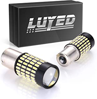 LUYED 2 X 1700 Lumens Extremely Bright 1156 4014 102-EX Chipsets 1156 1141 1003 7506 LED Bulbs Used For Backup Reverse Lights, Xenon White(Brightest LED in market)