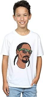 Absolute Cult Snoop Dogg Boys Cartoon Face T-Shirt