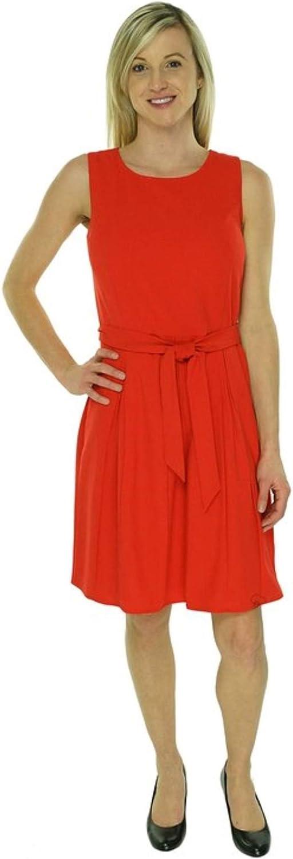 Calvin Klein Women's Pleated 12 Regular store Dress Max 72% OFF Sleeveless