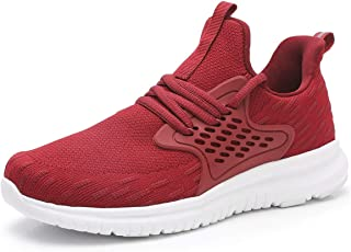 Women's Athletic Running Shoes - Slip On Sneakers Lightweight Breathable Mesh Walking Running Shoes for Tennis Gym Travel