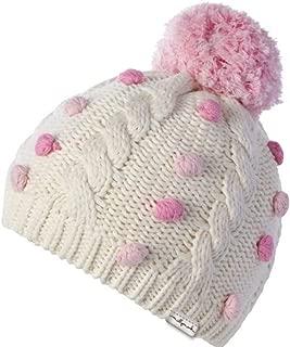 MILLMOOK and Dozer Baby Girls' Cream and Pink Winter Beanie Lara Size 0-12 Months