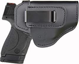 IWB Leather Holster for Concealed Carry Fits:S&W M&P Shield-Glock19 26 29 30 32 43-Beretta Px4-RUGER EC9s-SIG-HK-Taurus-XDS or Similar Sized Handguns