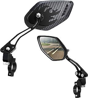 LX LERMX Bike Mirrors [Upgraded Version] Two PCS HD,Blast-Resistant, Glass Lens Bar End..