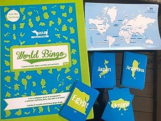 WORLD BINGO/Cocomoco Kids/games/toys/educational/map/around the world/travel games/play passport/travel diaries/gifts/retu...