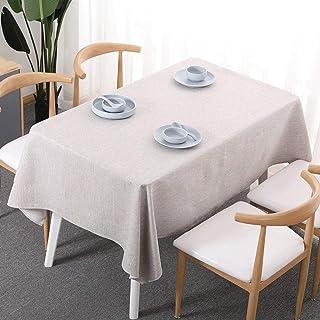 MKKM Modern Home Nappe Carrée Table Rectangulaire Tissu En Coton Et Linge de Table Couverture Antipoussière,Ivoire,120 * 1...