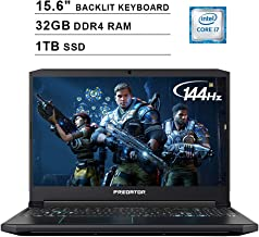 Acer 2020 Predator Helios 300 15.6 Inch FHD Gaming Laptop (9th Gen Intel 6-Core i7-9750H up to 4.5 GHz, 32GB RAM, 1TB PCIe...