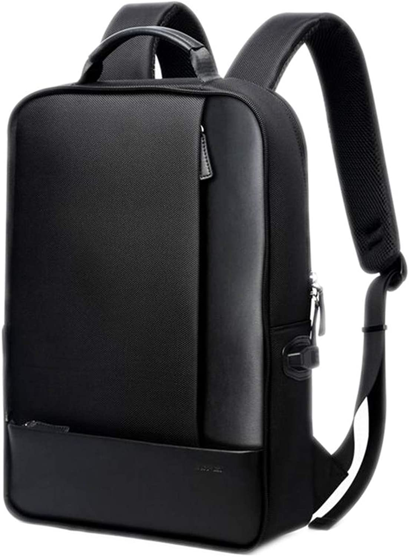 Zaini da Viaggio in Pelle Casual con Zaino per Laptop da 15,6 Pollici 2 in 1 Borsa da Viaggio per Uso Multidivertimentozionale autoica USB Nera