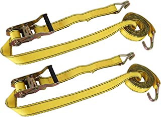 XSTRAP Ratchet Tie Down Straps - 2 Pk - 1.5'' x 15 Ft – 1666 LBS Working Load - 5000 Lbs Break Strength– Double J Hook – Cargo Straps for Moving Appliances, Lawn Equipment and Motorcycles