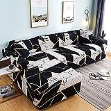WXQY Funda de sofá elástica con Estampado geométrico para Sala de Estar, Funda de sofá de Esquina de Spandex, Funda de protección para Muebles, Funda de sofá A3 1 Plaza