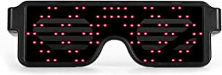 RED LED Flash Glasses 8 Adjustable Patterns Luminous Flashing Shades Eye Wear For Birthday Party Corporate Events Raves Music Festivals Nightclubs Concerts Weddings Dancing Group Fitness Great Gift