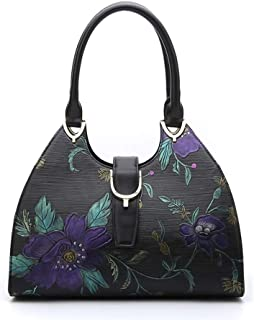 Serenade - Monet SL98-1764 Hand Painted Leather Bag with Buckle