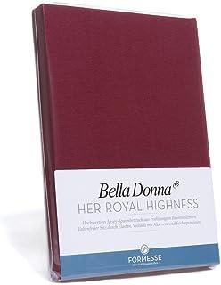 Bella Donna Drap-housse en jersey, Fb.0101 Schwarz, 180 cm x 200 cm