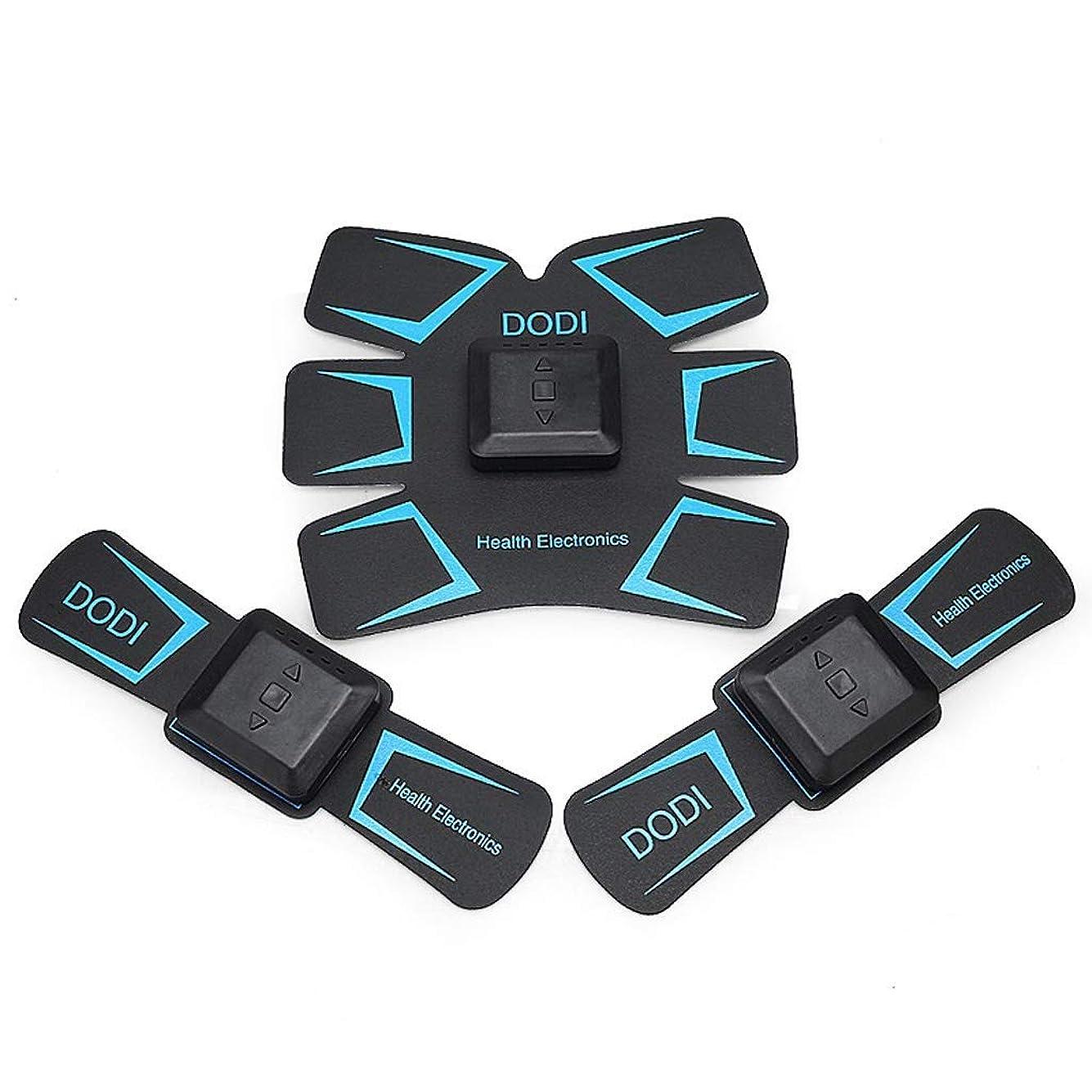 ラケットジャケットロールABSトレーナーEMS筋肉刺激装置付き - USB充電式究極腹部刺激装置付きリズム&ソフトインパルス - ポータブルマッスルトナー (Color : Blue)
