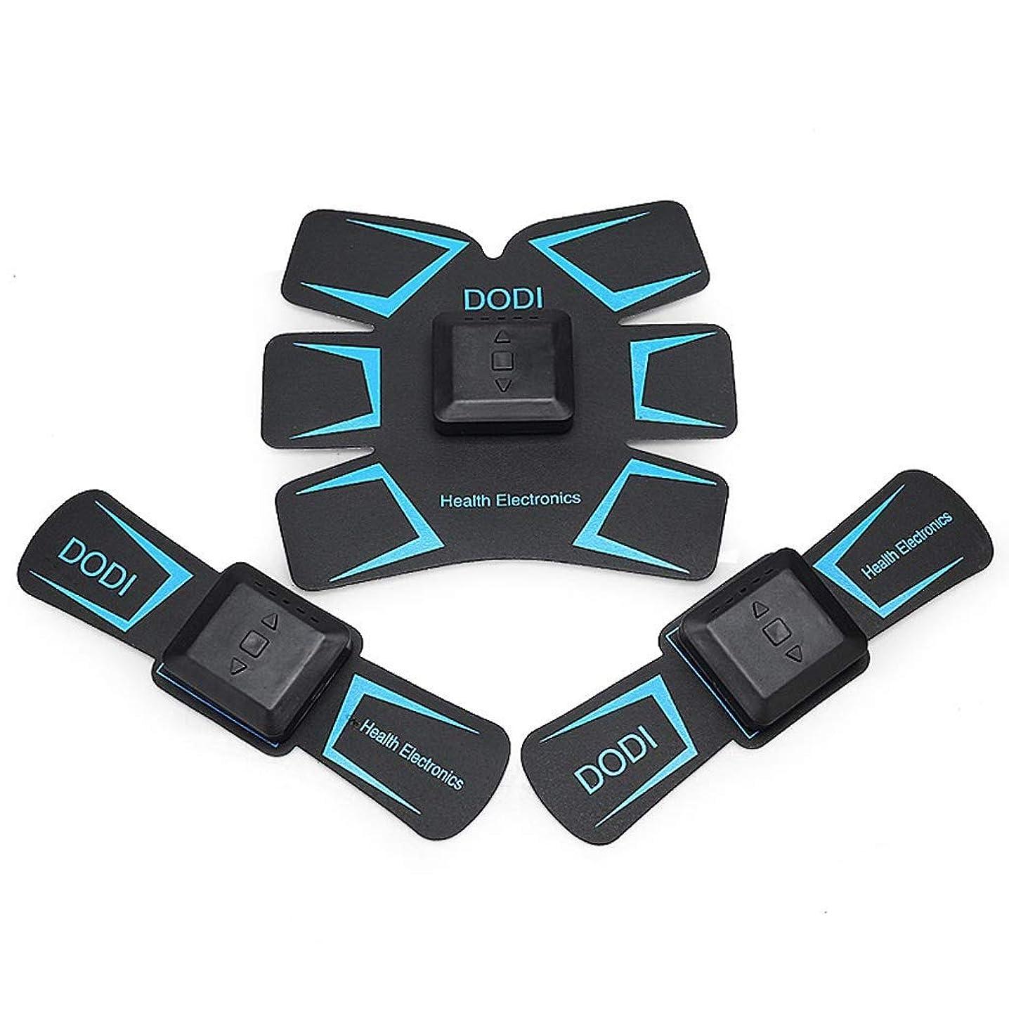 クランシーアルカイックイデオロギーABSトレーナーEMS筋肉刺激装置付き - USB充電式究極腹部刺激装置付きリズム&ソフトインパルス - ポータブルマッスルトナー (Color : Blue)
