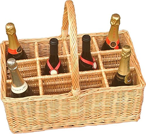 Red Hamper 12 Bottle Wicker Boissons Panier