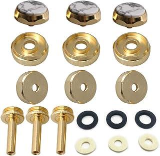 lovermusic 9pcs Trumpet Finger Key Buttons Blue Sand StoneTrumpet Instrument Replacement