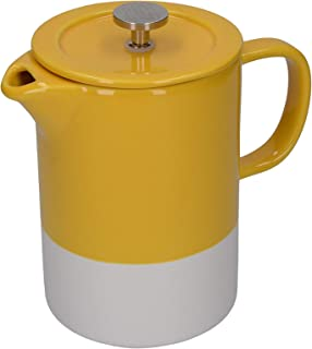 La Cafetière – Cafetière à Piston Barcelona en Céramique, Céramique, moutarde,8 Cup (1 Litre)