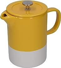 La Cafetière C000894 Barcelona French Press Coffee Maker, Ceramic, Mustard