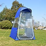 ZFLL Tienda Ducha de privacidad portátil Inodoro Camping Tienda de campaña Tienda de fotografía móvil Tienda de Pesca de Invierno al Aire Libre móvil con Borde de Tapa Especial, Azul