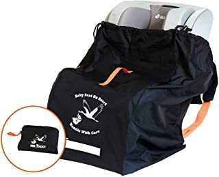 Infant Car Seat Travel Bag by Mr. Ziggy | Waterproof and Extra Durable Cover Bag for Baby Carseats for Flights | Gate Check Carrier Bag with Padded Back Straps for Check-In