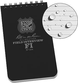 Rite In The Rain Weatherproof Field Interview Notebook, 3