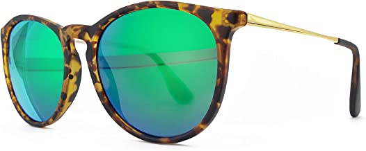 SUNGAIT Vintage Round Sunglasses for Women Classic Retro Designer Style