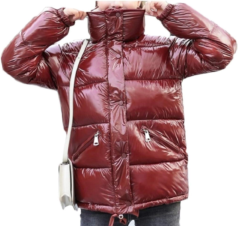 Womens Warm Outwear Stand Collar Down Jackets Short Coats