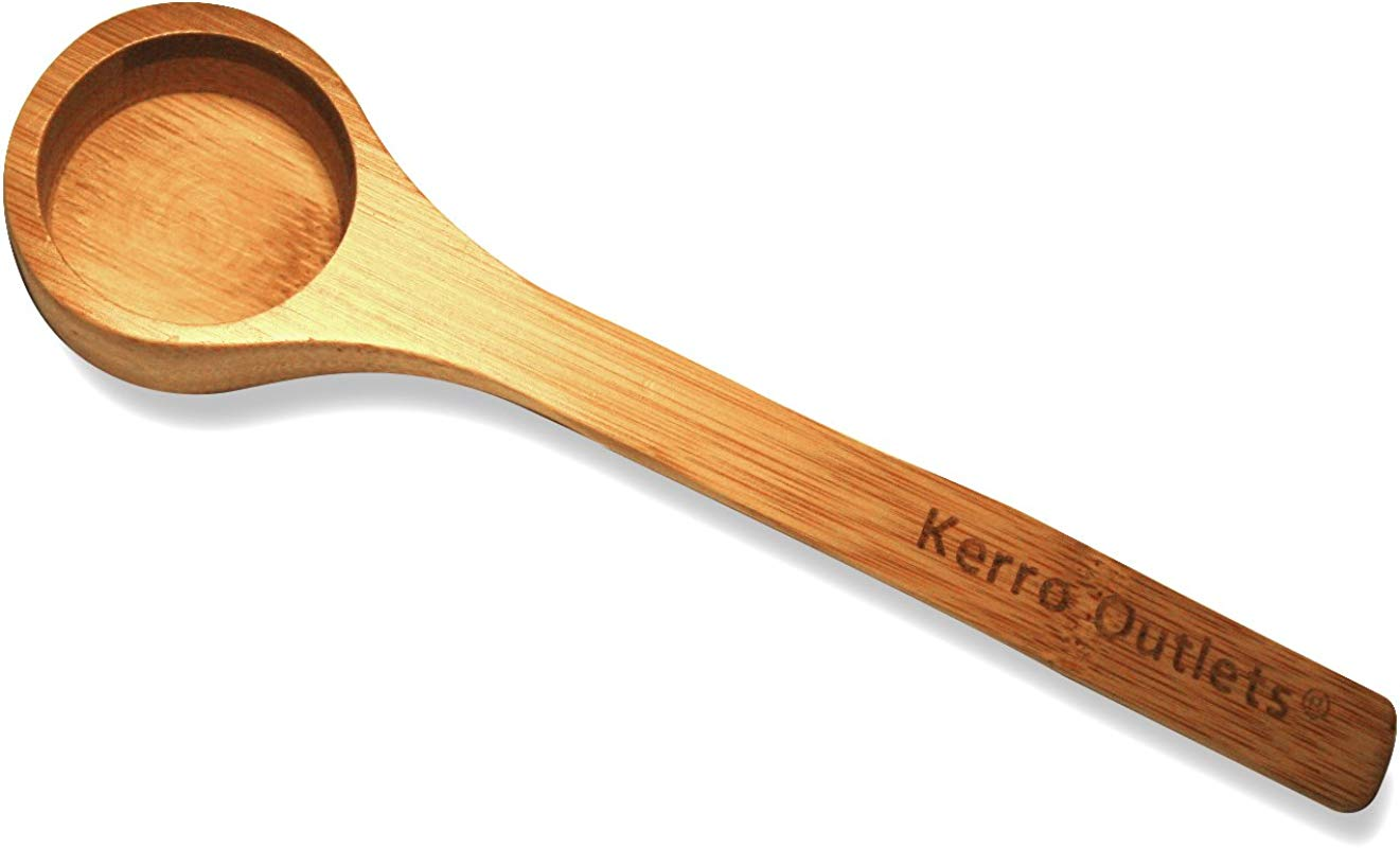 2 Tablespoon Approx Scoop In Bamboo From Kerro Outlets Wooden Coffee Scoop Or Tea Scoop Coffee Tools Home Kitchen Accessories
