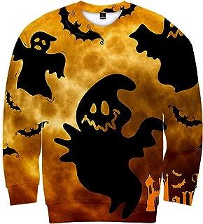 DRAGONHOO Hooded Sweatshirt Men Mens Casual Scary Halloween Lover 3D Print Party Long Sleeve NOhoodie Top Blouse Sweatshirts