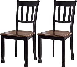 Ashley Furniture Signature Design - Owingsville Dining Room Side Chair - Latter Back - Set of 2 - Black-Brown