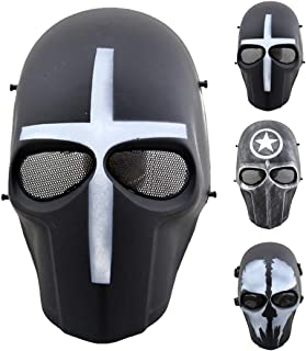 Outgeek Airsoft Mask Full Face Protective Mesh Mask Skull Mask for Costume