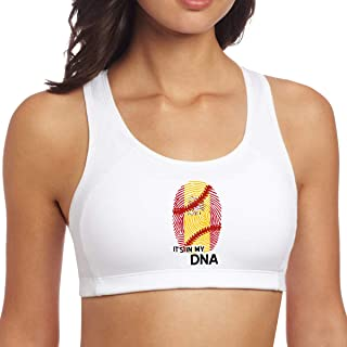 Spain Flag Baseball in My DNA Yoga Tank Top, Women's Workouts Clothes for Running Athletic
