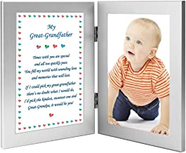 Great Grandfather Gift for Birthday or Christmas, Great-Grandpa Poem - Add 4x6 Inch Photo