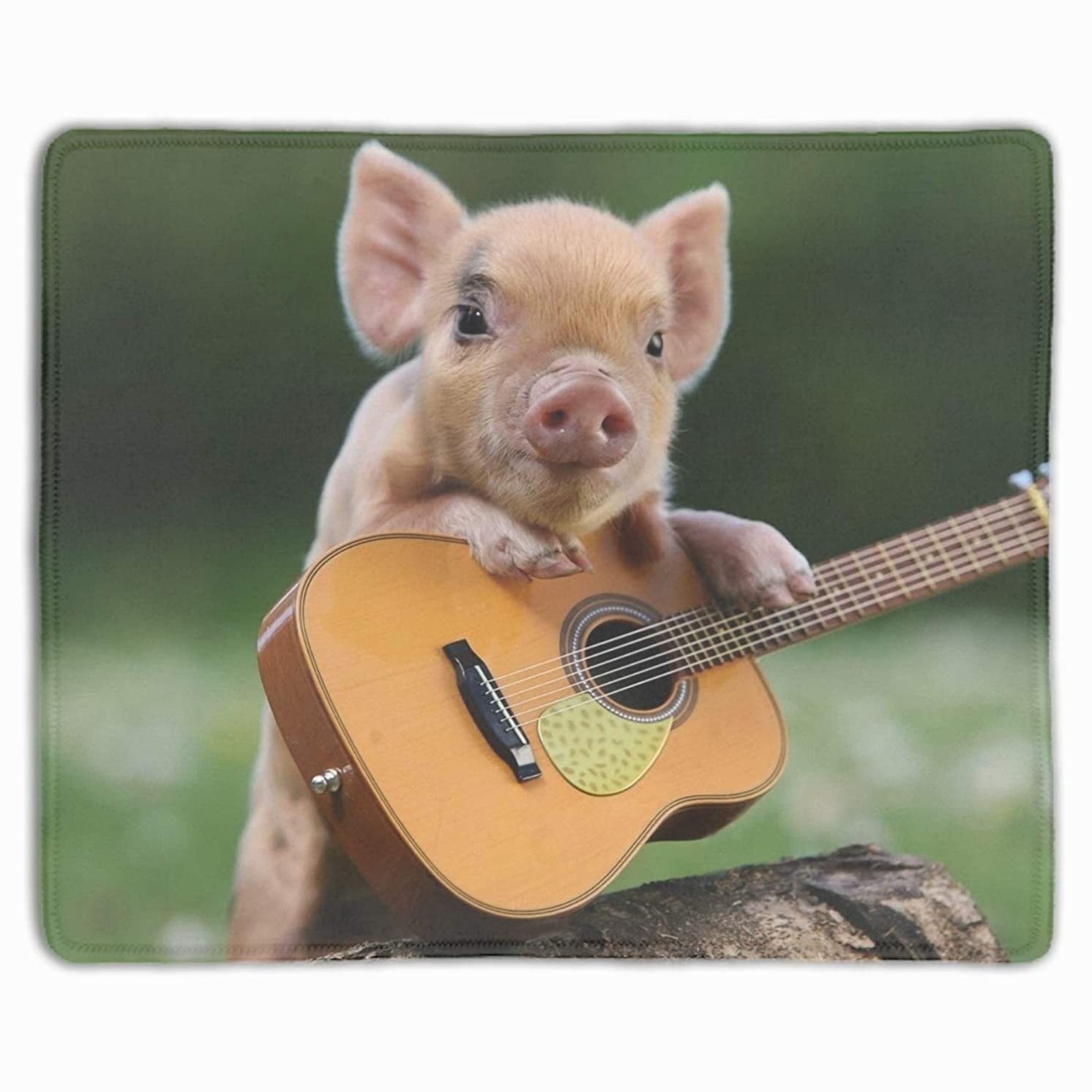 Stylish Design Pig Guitars Comfort Cloth Cover Non-Slip Rectangle Mousepad 11.8-inch by 9.85-inch