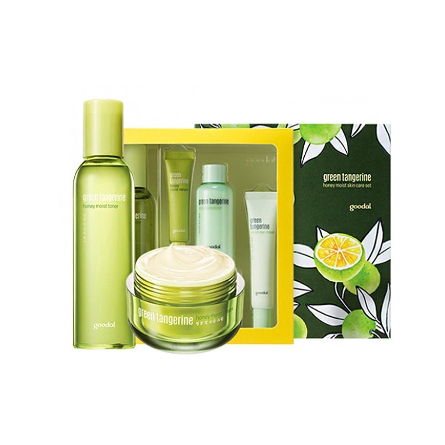蓄積するがんばり続けるバッジgoodal Green Tangerine Honeyチョンギュル 水分ケアセットMoist Skin Care SET (Moist Toner + Moist Cream) [韓国並行輸入品]