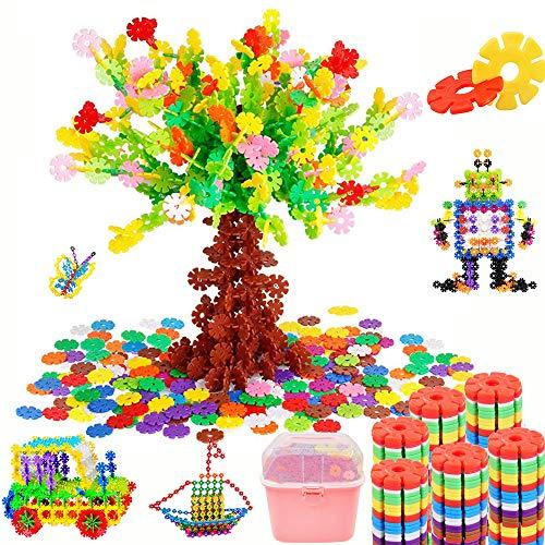 Tebrcon 約900ピース おもちゃ ブロック 子供 積み木 知育玩具 セット 男の子 女の子 はめ込み 組み立て DIY 立体パズル