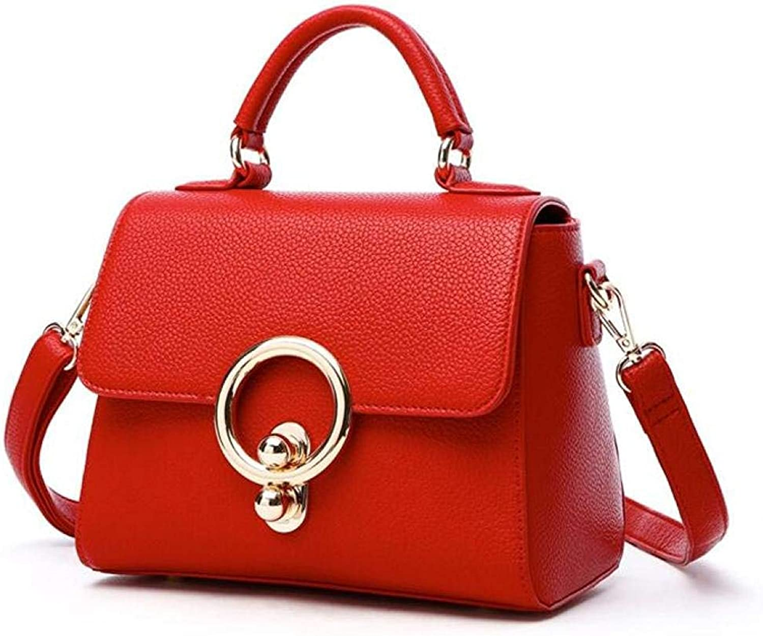 Ladies Handbag Ladies Handbags Shoulder Bags Autumn and Winter Casual Fashion Small Square Bag (color   Red, Size   One Size)