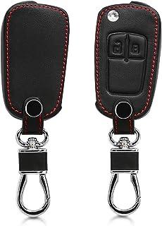 kwmobile Autoschlüssel Hülle kompatibel mit Opel Chevrolet 2 Tasten Klapp Autoschlüssel   Kunstleder Schutzhülle Schlüsselhülle Cover   Schwarz