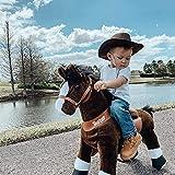 PonyCycle Original Poney d'équitation Sans Piles et Sabot Blanc et Brun Medium