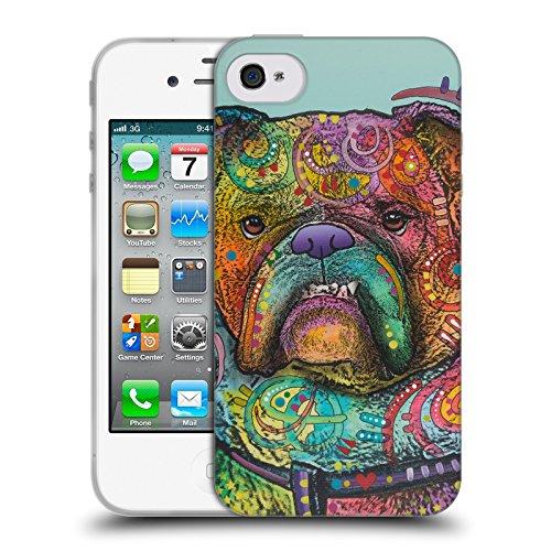Head Case Designs Oficial Dean Russo Vinny Perros 3 Carcasa de Gel de Silicona Compatible con Apple iPhone 4 / iPhone 4S