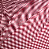 Stoff am Stück Stoff Baumwolle Vichy Karo rot weiß 2,5 mm