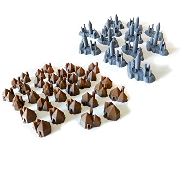 Castles & Hagrd's Huts Replacement Monopoly Pieces by: Keene/Fx